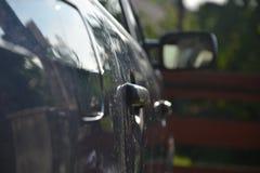 Door handles on the car Stock Image