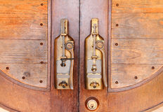 Door handles. Design a bottle royalty free stock photos
