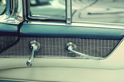 Door handles in vintage cars. Retro car. Elegance. Royalty Free Stock Images