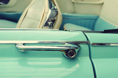 Door handles in vintage cars. Retro car. Elegance. Prestige. Vin Royalty Free Stock Image