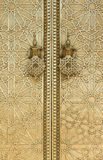 The door hanger of Dar Lmakhzen or the Royal Palace Gate in Fes, Royalty Free Stock Photos