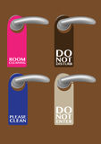 Door Hanger with messages Royalty Free Stock Photography