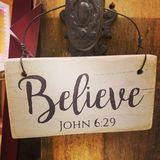 Believe sign royalty free stock image