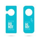 Door hanger set. Do not disturb. blue Stock Image