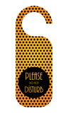 Door hanger with special design Royalty Free Stock Photography