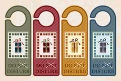 Door hangers stock illustration