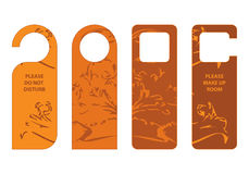 Door hangers Stock Images