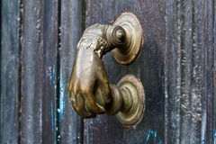 Door hardware in the form of fistful Royalty Free Stock Images