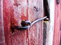 Door hasp Royalty Free Stock Image