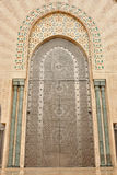 Door in Hassan II Mosque in Casablanca Royalty Free Stock Photo