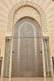 Door in Hassan II Mosque in Casablanca royalty free stock photo