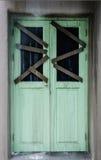 Door of haunted house Stock Images