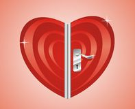 Door of heart Stock Photography