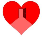 Door in the heart Royalty Free Stock Photo