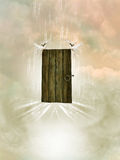 Door in the heaven. With doves Stock Images