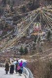 Door het cijfer van Boedha van Tibetaans Royalty-vrije Stock Foto's