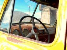 Door het windscherm Stock Fotografie