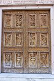Door of the Hindu temple Royalty Free Stock Photos