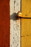 Door with hinge Royalty Free Stock Photography