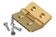 Door hinge with screws Stock Image