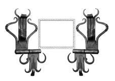 Door hinges blacksmith. Royalty Free Stock Image