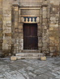 Door of a historic theological school Stock Images