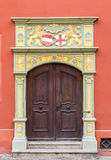 Door at the historical store in Freiburg Stock Photo