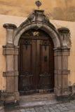 Door in historical tower in Stockholm, Sweden Stock Photo