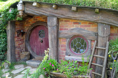 The Door into the Hobbit's Hole Royalty Free Stock Image