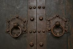 Door holder at a chino-portuguese house Royalty Free Stock Image