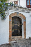 Door of andalucian house Royalty Free Stock Images