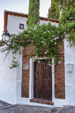 Door of andalucian house Royalty Free Stock Photo
