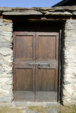 Door of a house at the rural village of Palagnedra on Centovalli Stock Photos
