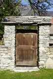 Door of a house at the rural village of Palagnedra on Centovalli Royalty Free Stock Photography
