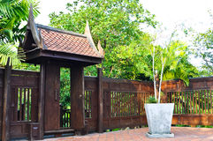 Door of house in thai style. Thailand royalty free stock image