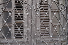 Door houses architecture abstract mexico city merida royalty free stock images