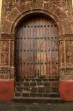 Door of Huatapera located in Uruapan Royalty Free Stock Photo