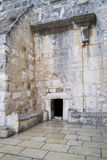 The Door of Humility. Leads into the Church of the Nativity (Basilica of the Nativitiy Royalty Free Stock Photo