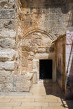 The Door of Humility. Main entrance into the Church Royalty Free Stock Photography