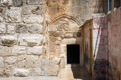 The Door of Humility. Main entrance into the Church Royalty Free Stock Photo