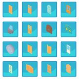 Door icon blue app Royalty Free Stock Images