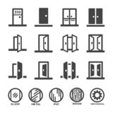 Door icon set vector illustration