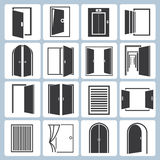 Door icons Royalty Free Stock Photos