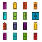 Door icons doodle set Royalty Free Stock Image
