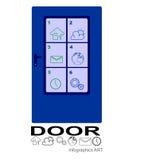 Door info graphics Royalty Free Stock Images