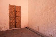 Door inside the monastery of Saint Catherine, Santa Catalina, Arequipa, Peru. Door inside the famous monastery of Saint Catherine, Santa Catalina, in Arequipa royalty free stock photography