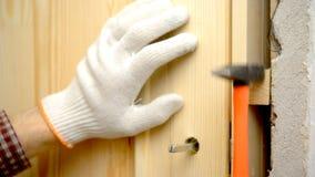 Door installation Stock Photo