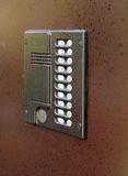 Door with intercom Royalty Free Stock Image
