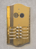 Door intercom with camera Stock Photos