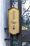 Door intercom Stock Photography